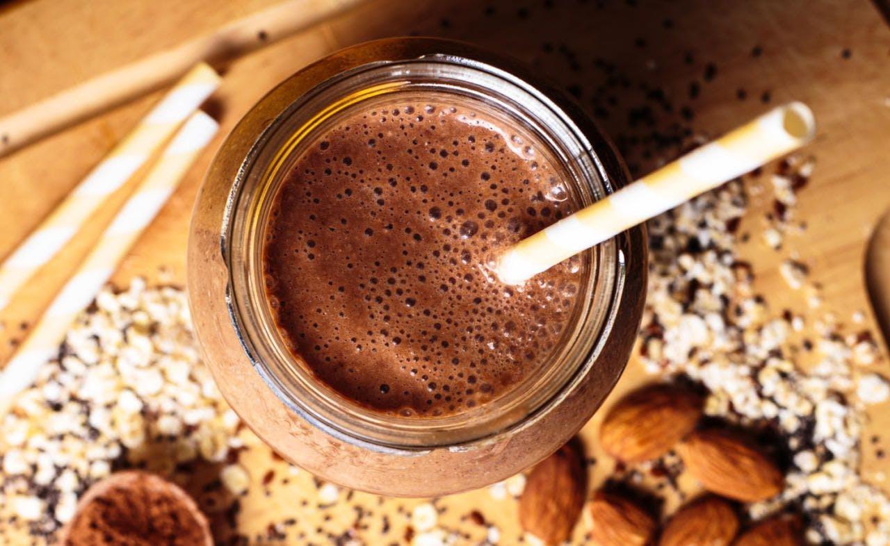 Veganer Schokoladen-Chia-Smoothie
