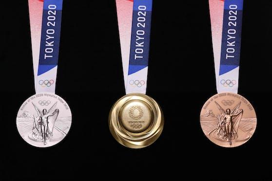 Die Sieger-Medaillen wurden letztes Jahr gemacht.