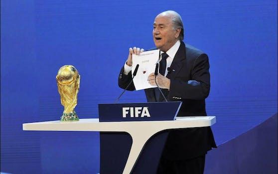 Die Vergabe der WM-Endrunde 2022 an Katar.