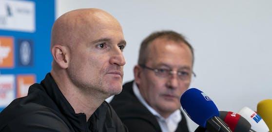 GC-Trainer Goran Djuricin und Sportdirektor Fredy Bickel.