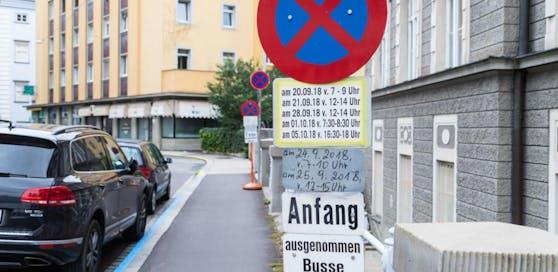 Das ist vermutlich das komplizierteste Verkehrsschild von Linz.