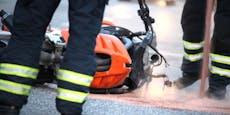 Biker aus Wien und NÖ bei Unfall schwer verletzt
