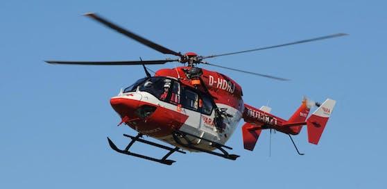 Der RK1 Rettungshubschrauber der ARA Flugrettung.