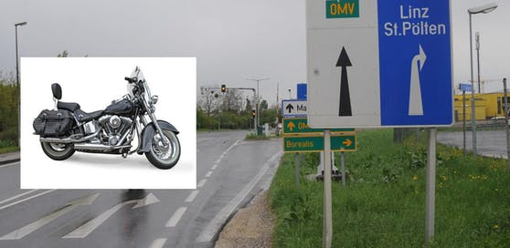 An der Kreuzung flogen zwischen Harley-Fahrer und Taxler die Fetzen.