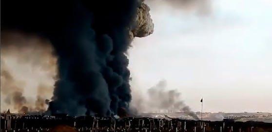 Dieses, auf dem russischen Portal VKontakte aufgetauchtes, Video soll die Explosion in Sewerodwinsk zeigen.