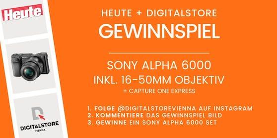 """Gemeinsam mit """"Heute"""" & DIGITALSTORE Vienna kannst du jetzt ein Sony Alpha 6000 Set gewinnen!"""