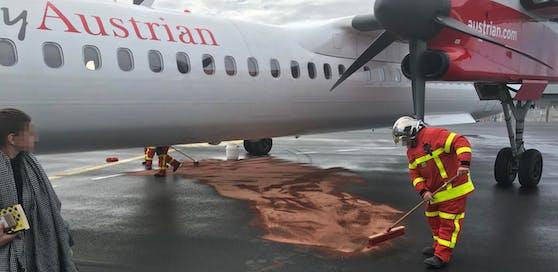 AUA Flieger verlor Treibstoff in Lyon