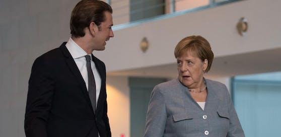 Bundeskanzlerin Angela Merkel (CDU) und Bundeskanzler Sebastian Kurz (ÖVP)