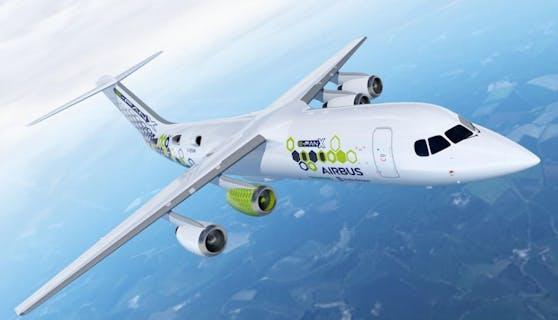 2017 stellte Airbus schon den hybrid-elektrischen E-Fan X vor. (Foto: Airbus)
