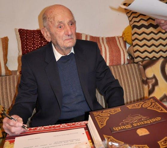 Gustav Gerneth starb eine Woche nach seinem 114. Geburtstag