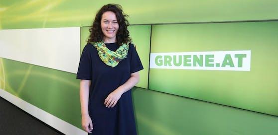 Die Bundessprecherin der Grünen, Ingrid Felipe.