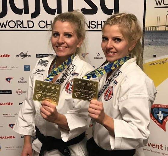 """Die """"Twins"""" vom Jiu Jitsu-Verein in Pressbaum sind jetzt zum 7. Mal Weltmeister geworden."""