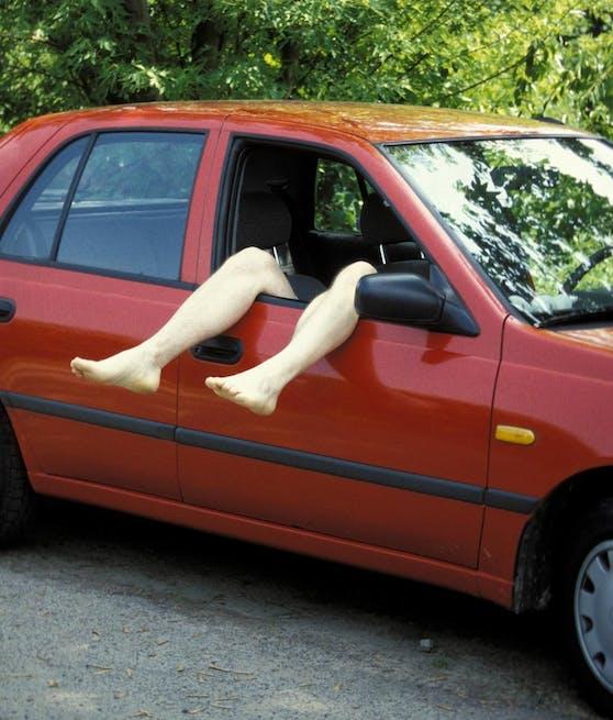 Der Mann schlief im Auto seinen Rausch aus