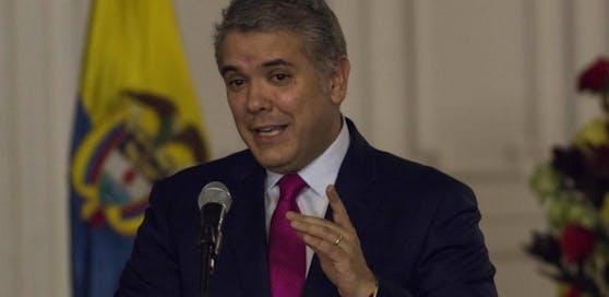 """Kolumbiens Präsident Ivan Duque versprache nach dem Anschlag: """"Wir werden nicht ruhen, bis wir alle Täter und Drahtzieher zur Rechenschaft gezogen haben."""""""