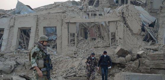Das deutsche Konsulat in Kabul nach dem verheerenden Anschlag