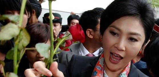 Thailands Ex-Regierungschefin Yingluck Shinawatra - ein Bild aus besseren Tagen.