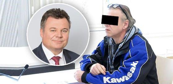 Der Beschuldigte soll unter einem Posting von Landesrat Günther Steinkellner gegen Asylwerber gehetzt haben.