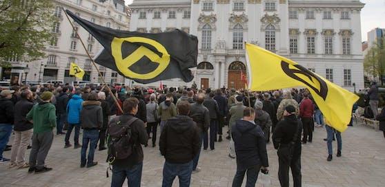 Symbolbild: Demo der Identitären