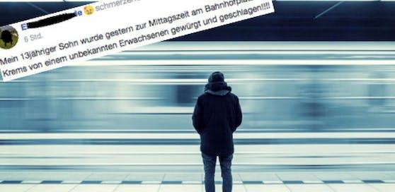 Vorfall in Krems: Ein Teenager wurde beim Bahnhof tätlich angegriffen.