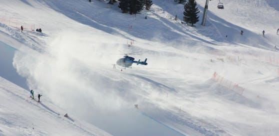 Die beiden verletzten Wintersportler wurden mit dem Hubschrauber ins Spital geflogen