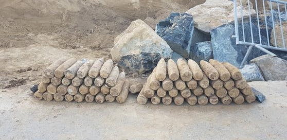 67 Spreng- bzw. Hohlladungsgranaten wurden vom Entminungsdienst abtransportiert.