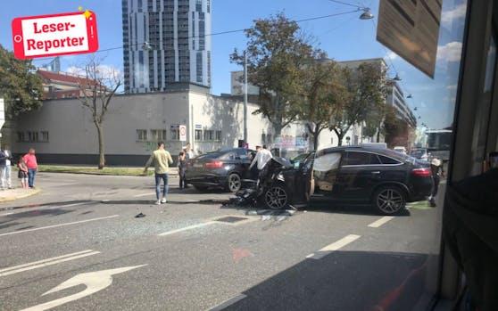 Schlimmer Unfall in Wien-Brigittenau