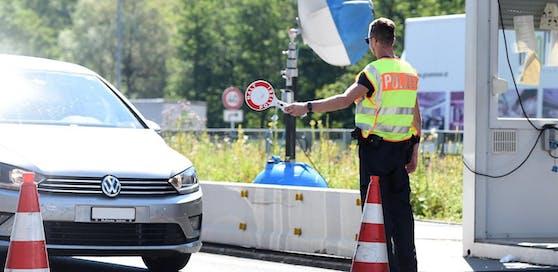 Grenzkontrollen an der deutsch-österreichischen Grenze.