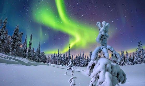 In Levi können die Nordlichter bewundert werden.