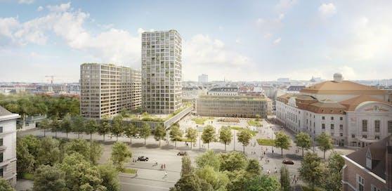 Heumarkt-Projekt: So soll das Areal des Eislaufvereins künftig aussehen.