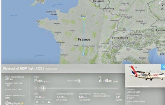 Flug A5235 war unterwegs von Paris nach Aurillac.