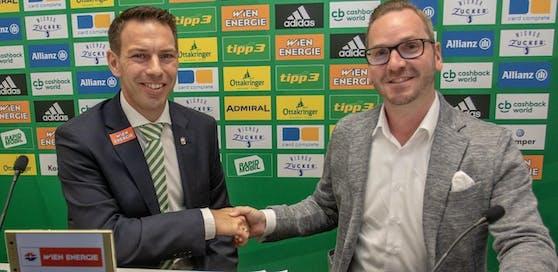 Roland Schmid mit Geschäftsführer Christoph Peschek