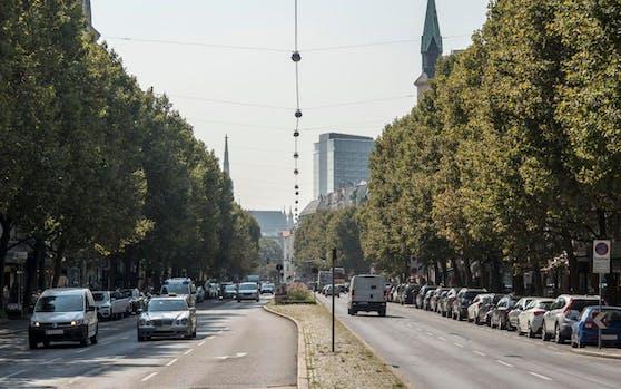 Ab Donnerstag wird die Praterstraße (Leopoldstadt) zu Wiens erstem (temporären) Pop-Up-Radweg.