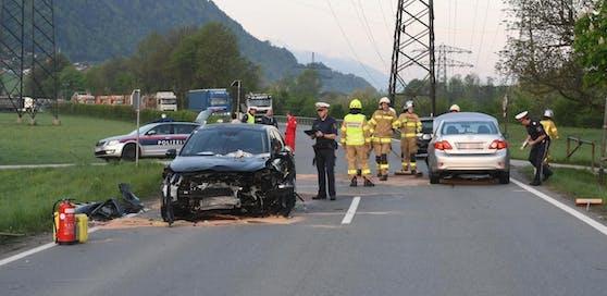 Bei dem Verkehrsunfall in Strass waren vier Fahrzeuge beteiligt