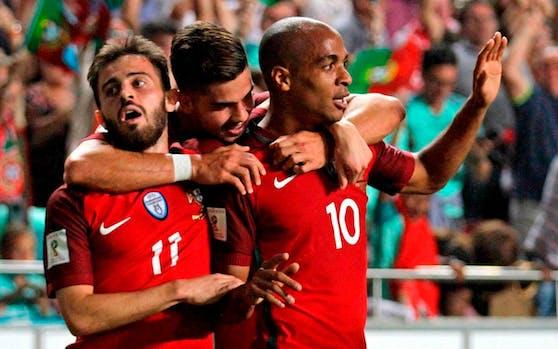 Andre Silva feiert seinen Treffer