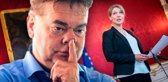 """Grünen-Spitzenkandidat Werner Kogler erteilt Jetzt-Parteichefin Maria Stern eine Abfuhr: """"Werden nicht fusionieren."""""""
