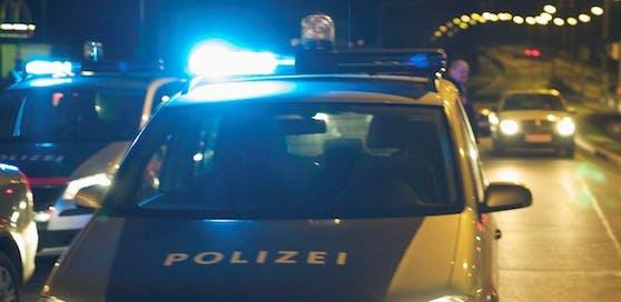 Nächtlicher Polizeieinsatz in Wien.