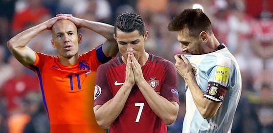 Arjen Robben, Cristiano Ronaldo, Lionel Messi