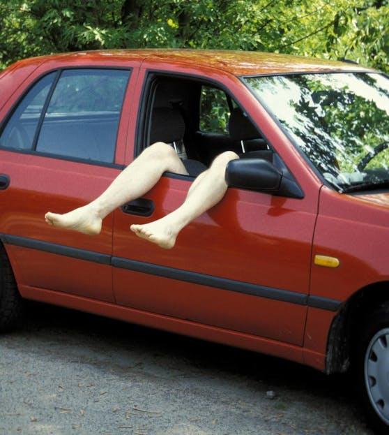 Der alkoholisierte Polizist machte im Auto ein kleines Nickerchen