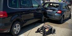 Baby bei Unfall auf der A2 in Wr. Neudorf verletzt