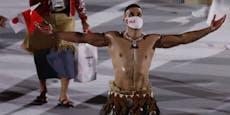 Tongas eingeölter Olympia-Muskelmann ist zurück