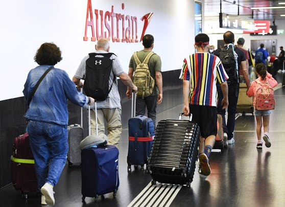 Reiserückkehrer am Flughafen Wien