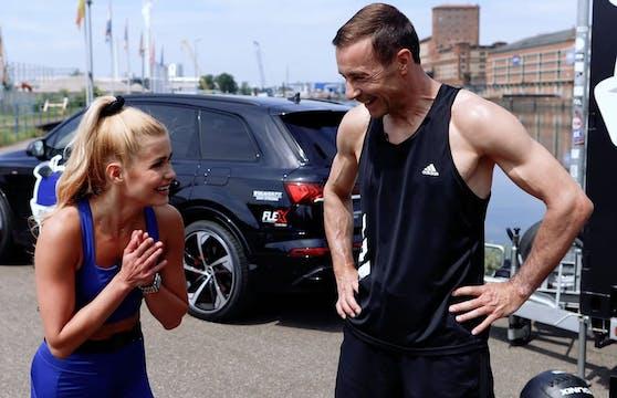 Pamela Reif und Kai Pflaume