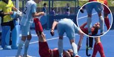 Olympia-Eklat! Hockey-Spieler schlägt Gegner mit Stock