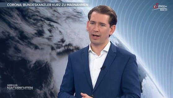 """Bundeskanzler Sebastian Kurz bei """"ServusTV"""""""