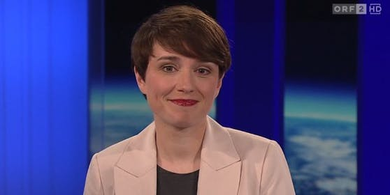 """Sigrid Maurer, Klubchefin der Grünen, in der ORF-""""ZiB 2""""."""