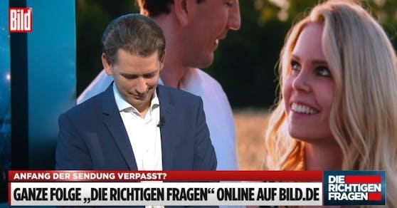Bundeskanzler Sebastian Kurz im BILD-Talk