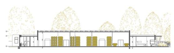 Die neue Leichenhalle 11 am Wiener Zentralfriedhof bietet Platz für über 400 Särge.