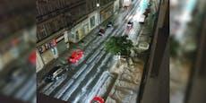 Hagel-Unwetter sorgt für Winter-Look in Wien