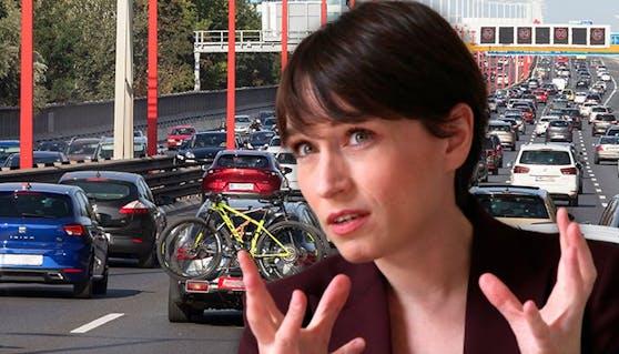 Sigrid Maurer (Grüne) rechtfertigt die Evaluierung der geplanten Straßenprojekte.