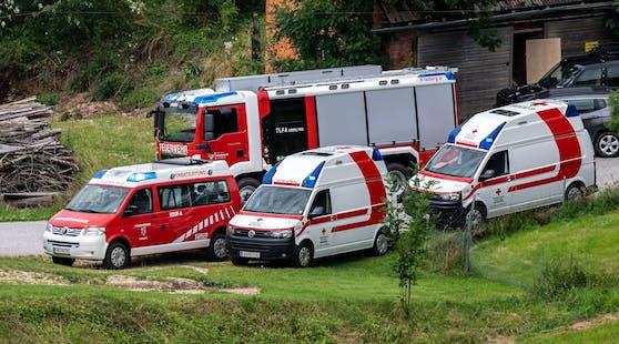 Die Tragödie von Lasberg: Eine Mutter (32) und ihre Kinder (2, 5) wurden vergiftet. Die Kinder starben, die Mutter schwebt in Lebensgefahr.